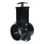 Valterra 5301, ABS Black Slip x Slip Ends Gate Valve w/Paddle & Handle