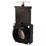 Valterra 5304, ABS Black MPT x MPT Ends Gate Valve w/ Paddle & Handle
