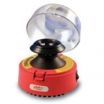 Globe Scientific 545R, Mini-Centrifuge with 2 Rotors, Red, 115V