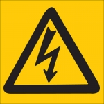 Brady 88497, Electrical Hazard Picto Sign, Black on Yellow