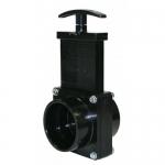 Valterra 7201, ABS Black Slip x Slip Ends Gate Valve w/Paddle & Handle