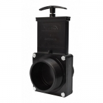 Valterra 7304, ABS Black MPT x MPT Ends Gate Valve w/Paddle & Handle