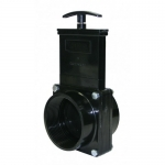 Valterra 7307, ABS Black FPT x FPT Ends Gate Valve w/Paddle & Handle