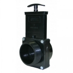 Valterra 7308, ABS Black FPT x MPT Ends Gate Valve w/Paddle & Handle