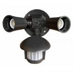 Morris 73210, Bronze Motion Activated Twin Par Light