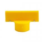 Brady 80959, 1.75″ x 5″ Yellow Polyethylene Post Sign Adapter