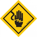 Brady 88498, Electrical Hazard Hand Picto Sign
