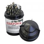 Cle-Force C69384, Drill Bit Set, Mechanics Length Drill, Plastic Index