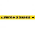 "Accuform CRPK165CTF, 5-1/4″ to 6″ Pipe Marker ""Alimentation De…"" Ylw"