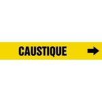 """Accuform CRPK185CTF, 5-1/4″ to 6″ Pipe Marker """"Caustique"""" Yellow"""