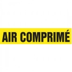 """Accuform CRPK225CTF, 5-1/4″ to 6″ Pipe Marker """"Air Comprime"""" Yellow"""