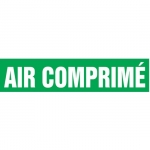 """Accuform CRPK226CTF, 5-1/4″ to 6″ Pipe Marker """"Air Comprime"""" Green"""