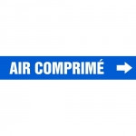 """Accuform CRPK227CTF, 5-1/4″ to 6″ Pipe Marker """"Air Comprime"""" Blue"""
