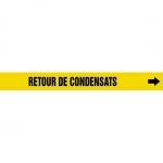 "Accuform CRPK237CTF, 5-1/4″ to 6″ Pipe Marker ""Retour De Condensats"""