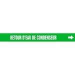 """Accuform CRPK243CTF, 5-1/4″ to 6″ Pipe Marker """"Retour D'Eau De…"""" Grn"""