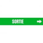 "Accuform CRPK265CTF, 5-1/4″ to 6″ Pipe Marker ""Sortie"" Green"