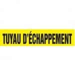 "Accuform CRPK308CTF, 5-1/4″ to 6″ Pipe Marker ""Tuyau D'echappement"""