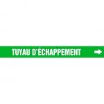 "Accuform CRPK310CTF, 5-1/4″ to 6″ Pipe Marker ""Tuyau D'echappement"""