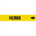 """Accuform CRPK317CTF, 5-1/4″ to 6″ Pipe Marker """"Filtrer"""" Yellow"""