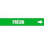 """Accuform CRPK329CTF, 5-1/4″ to 6″ Pipe Marker """"Freon"""" Green"""