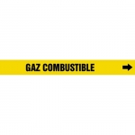 """Accuform CRPK333CTF, 5-1/4″ to 6″ Pipe Marker """"Gaz"""" Combustible"""" Ylw"""