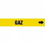 """Accuform CRPK345CTF, 5-1/4″ to 6″ Pipe Marker """"Gaz"""" Yellow"""