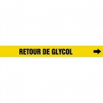"Accuform CRPK365CTF, 5-1/4″ to 6″ Pipe Marker ""Retour De Glycol"" Ylw"