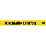 "Accuform CRPK371CTF, 5-1/4″ to 6″ Pipe Marker ""Alimentation En Glycol"""