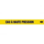 "Accuform CRPK415CTF, 5-1/4″ to 6″ Pipe Marker ""Eau Haute Pression"" Ylw"