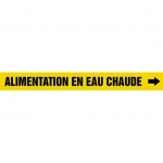 "Accuform CRPK431CTF, 5-1/4″ to 6″ Pipe Marker ""Alimentation En…"" Ylw"