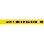 """Accuform CRPK447CTF, 5-1/4″ to 6″ Pipe Marker """"Alimentation…"""" Ylw"""