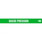 "Accuform CRPK482CTF, 5-1/4″ to 6″ Pipe Marker ""Basse Pression"" Green"