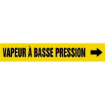 """Accuform CRPK499CTF, 5-1/4″ to 6″ Pipe Marker """"Vapeur Basse…"""" Ylw"""