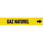 "Accuform CRPK523CTF, 5-1/4″ to 6″ Pipe Marker ""Gaz Naturel"" Yellow"