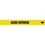 """Accuform CRPK529CTF, 5-1/4″ to 6″ Pipe Marker """"Acide Nitrique"""" Ylw"""