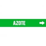 "Accuform CRPK531CTF, 5-1/4″ to 6″ Pipe Marker ""Azote"" Green"