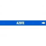 "Accuform CRPK533CTF, 5-1/4″ to 6″ Pipe Marker ""Azote"" Blue"