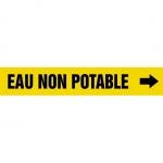 "Accuform CRPK541CTF, 5-1/4″ to 6″ Pipe Marker ""Eau Non Potable"" Ylw"