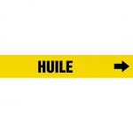 """Accuform CRPK543CTF, 5-1/4″ to 6″ Pipe Marker """"Huile"""" Yellow"""
