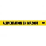 "Accuform CRPK544CTF, 5-1/4″ to 6″ Pipe Marker ""Alimentation En…"" Ylw"