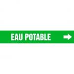 "Accuform CRPK575CTF, 5-1/4″ to 6″ Pipe Marker ""Eau Potable"" Green"
