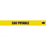 "Accuform CRPK576CTF, 5-1/4″ to 6″ Pipe Marker ""Eau Potable"" Yellow"