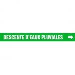 """Accuform CRPK596CTF, 5-1/4″ to 6″ Pipe Marker """"Descente D'Eaux…"""" Grn"""