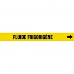 """Accuform CRPK598CTF, 5-1/4″ – 6″ Pipe Marker """"Fluide Frigorigene"""" Ylw"""