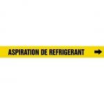 "Accuform CRPK605CTF, 5-1/4″ to 6″ Pipe Marker ""Aspiration De…"" Ylw"
