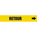 """Accuform CRPK611CTF, 5-1/4″ to 6″ Pipe Marker """"Retour"""" Yellow"""