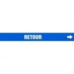"Accuform CRPK615CTF, 5-1/4″ to 6″ Pipe Marker ""Retour"" Blue"