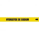 "Accuform CRPK645CTF, 5-1/4″ to 6″ Pipe Marker ""Hydroxyde De…"" Ylw"