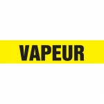 """Accuform CRPK667CTF, 5-1/4″ to 6″ Pipe Marker """"Vapeur"""" Yellow"""