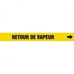 """Accuform CRPK669CTF, 5-1/4″ to 6″ Pipe Marker """"Retour De Vapeur"""" Ylw"""